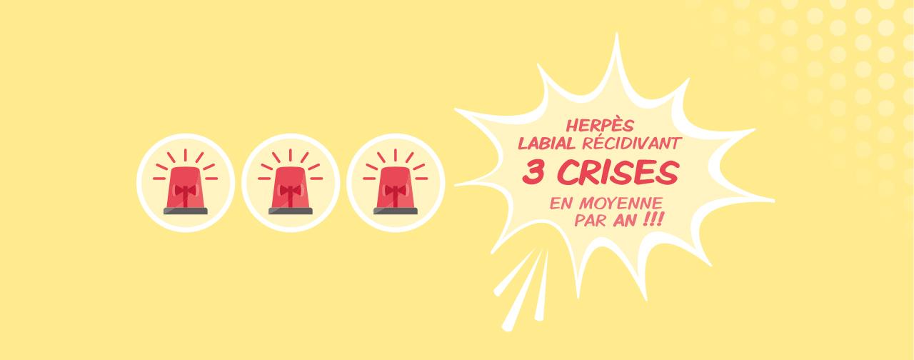 3 crises par an herpès labial